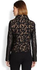 DVF  DIANE VON FURSTENBERG  NWT $765    SIZE 6   MARVELA Leather Leopard Jacket