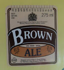 VINTAGE BRITISH BEER LABEL - STAG BREWERY, BROWN ALE 275 ML #2