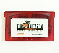 Final Fantasy 6 VI Advance RESTORED for Nintendo Gameboy Advance Custom GBA