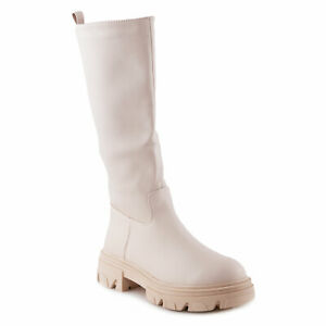 Women's Boots Rubber Sole Biker Combat Casual Shoes Toocool U9X90037-3