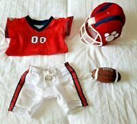 Build-A-Bear Football Outfit Red/Blue Jersey, Pants, Helmet & BABW Football NWOT