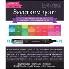 Crafters Companion Spectrum Noir Blendable Alcohol Based 24 Ink Pens Brights