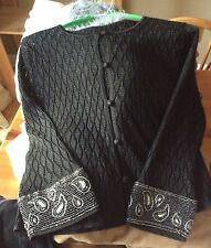 M&S Glitter Cardigan Black 12 St Michael Vintage Beaded Knit Top