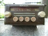Vintage RCA Victor Tube Car Auto Radio Rat Rod For Parts Or Restore Antique