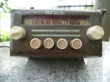 New listing Vintage Rca Victor Tube Car Auto Radio Rat Rod For Parts Or Restore Antique