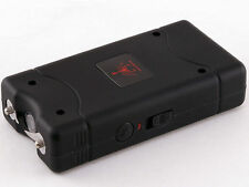 Black 600 Million Volts Stun Gun w/ LED light + Free holster