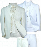 New Boys All in One Ivory White Wedding Suit, White Ivory First Communion Suit