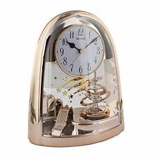 Widdop Table Home Decoration Rhythm Arch Pendulum Rose Gold Mantel Clock
