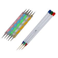 Nail Art penna delle spazzole, Detailer Liner e Striper Set di 3 Plus 5 x Y0E1