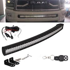 "For 03-18 Dodge Ram 2500/3500 42"" 240W Curved Hidden Bumper Led Light Bar+ Wires"