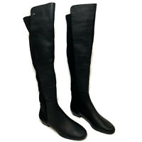 NWOB Vince Camuto Women's KARITA Over the Knee Boots Black Leather 5.5 6.5 M