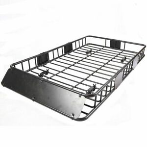 """Roof Rack Cargo Basket 150 LB Capacity Extension 64""""x 39""""x 6"""" for SUV Truck Cars"""