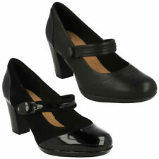 Leather Mary Jane Cuban Heels for Women