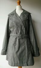 H&M COAT mack showerproof cotton UK10/12 EUR40 See measurements