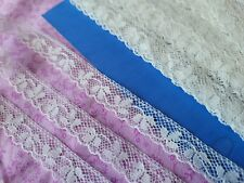 """Fine .5"""" floral French Antique Lace Valencienne Trim 3+ yards Scalloped"""