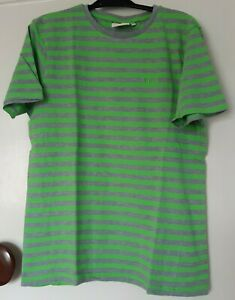 boys Lee Cooper green and grey striped t-shirt age 13