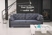 Sofa mit Schlaffunktion Polstersofa Couch Bettkasten Schlaffsofa Dino 15