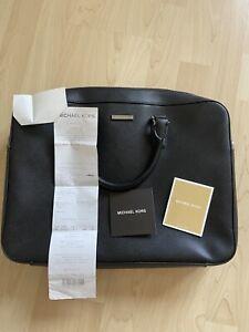 Michael Kors Briefcase Laptop Tasche Schwarz Leder - 37T6SANA3L