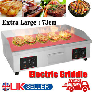 4400W 73cm Large Electric Griddle Kitchen Flat Hot plate Grill Bacon Countertop