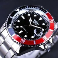 Winner Automatic Mechanical Men's Skeleton Back Wrist Watch Date Stainless Steel