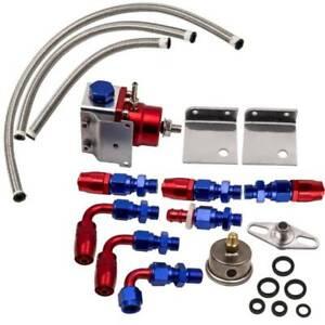 UniversaL Adjustable Fuel Pressure Regulator + 0-160PSI Oil Gauge AN6 Fittings
