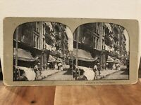 "Stereoview Photo Card New York City ""A Street in the Tenement District"""