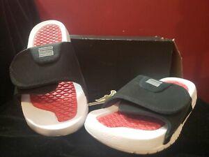 Air Jordan Hydro XI Retro Sandals Black/Varsity Red  Size 7y AA0022 006