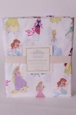 NWT Pottery Barn Kids Disney Princess twin sheet set Cinderella Belle Ariel