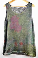 Blusa para mujer camiseta flores sin manga Talla XL Estampada de flores