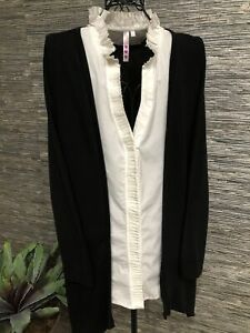 Hearts Long Sleeve Top Blouse Plus Size 2X #89