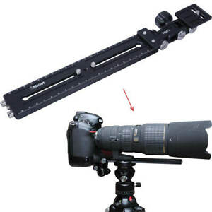 Telephoto Lens Bracket Support Camera Quick Release Plate for Tripod Ball Head