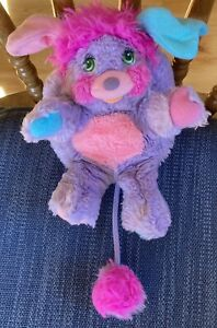Vintage 1985 Pretty Bit Popple Plush 1980s Pink and Purple Great Condition!