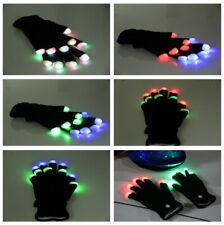 Adult Flashing Gloves Glow Light Up Finger Lighting LED Gloves Dance Toys Decor