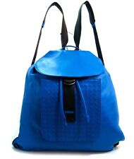 BOTTEGA VENETA Blue Leather Backpack