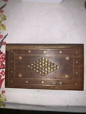 Rosewood Box (6x4) With Brass Inlay