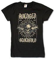 Avenged Sevenfold Stars Girls Juniors Black T Shirt New Official A7X