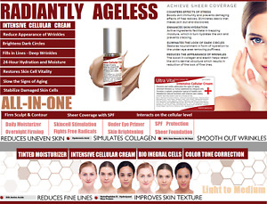 ALL IN ONE ANTI AGING Cream Anti-Wrinkles TREATMENT Face Eyes Cellfood Peptides