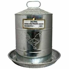 New listing Harris 4213 5 Gallon Double Wall Galvanized Steel Poultry Fountain