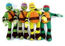 TMNT 4 Piece Teenage Mutant Ninja Turtle Stuffed Plush Toys New Free Shipping