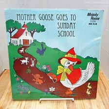 Mother Goose Goes To Sunday School Vinyl Record Album Melody House MH-518