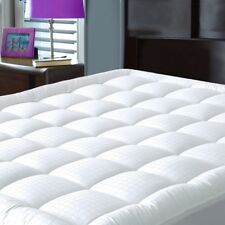 Pillowtop Mattress Pad Cover King Size - Cotton Down  Filled Mattress Topper
