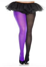 Opaque Jester Solid Color Everyday Full Pantyhose Stretch Tight Hosiery Dance XL