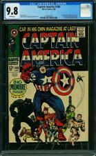 Captain America #100 CGC 9.8 1968 1st Issue! White Pages! NM/Mint! G9 147 cm