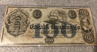 $100 Canal Bank Obsolete Currency New Orleans LA LOOK@!@! BEAUTIFUL!@!