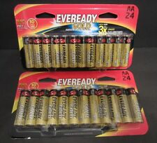 48 Eveready Gold Alkaline General Purpose Batteries 24 AA & 24 AA Exp 12/2024