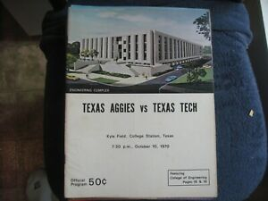 10/10/70 TEXAS A & M AGGIES  VS TEXAS TECH ELMENDORF    GROBEE1957