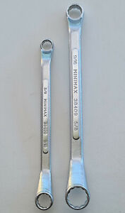 """Ring Spanners, Wrenches, 2pc SAE Imperial 3/8"""" - 5/8"""" Forged Steel, Minimax, New"""