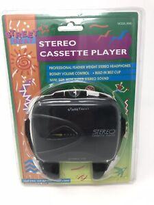 New VINTAGE 1996 STREET BEAT Portable Stereo Cassette Player & Headphones #8940