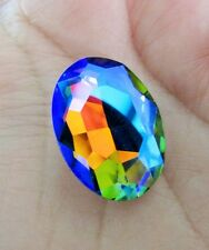 1 pcs 18mm x 25mm Faceted Oval Glass Chaton Crystals Fancy Cabochons RAINBOW