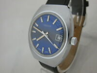 NOS NEW SWISS MECHANICAL HAND WINDING NIDOR MEN'S ANALOG WATCH WITH DATE 1960'S